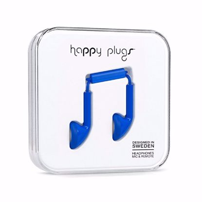 Picture of Trade Happy Plugs Earbud Wired Earphones in Cobalt