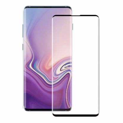 Picture of Eiger Eiger 3D GLASS Case Friendly Glass Screen Protector for Samsung Galaxy S10 Plus in Clear/Black