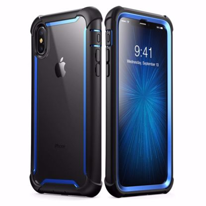 Picture of i-Blason i-Blason Ares Clear Case with Screen Protector for Apple iPhone XS/X in Blue