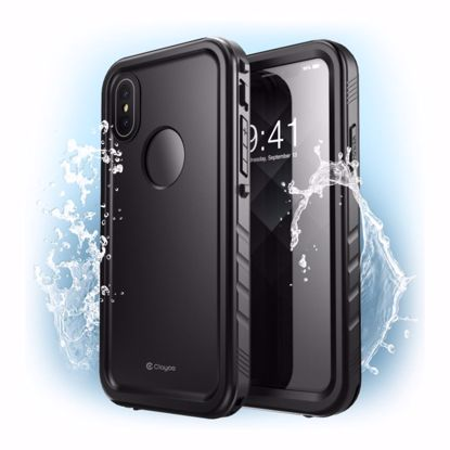 Picture of Clayco Clayco Omni Waterproof Case with Screen Protector for Apple iPhone XS Max in Black