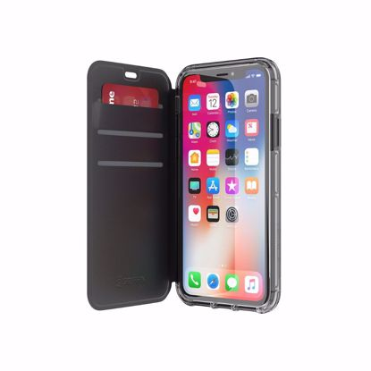 Picture of Griffin Griffin Survivor Clear Wallet Case for Apple iPhone X in Black/Clear