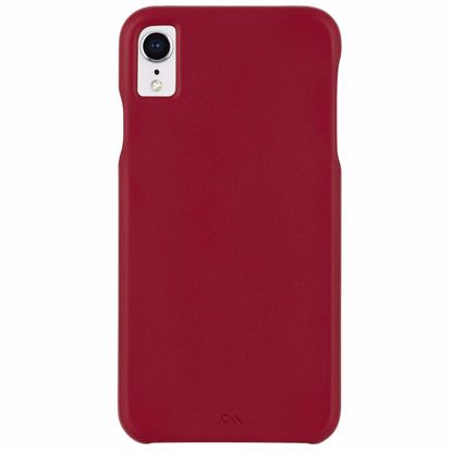 Picture of Case-Mate Case-Mate Barely There Leather Case for Apple iPhone XR in Cardinal