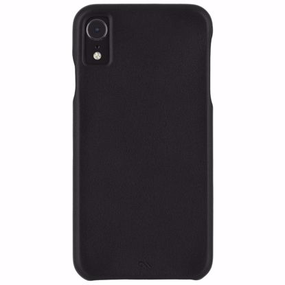 Picture of Case-Mate Case-Mate Barely There Leather Case for Apple iPhone XR in Black