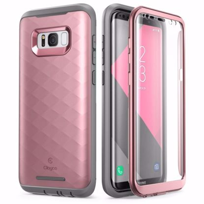Picture of Clayco Clayco Hera Case with Built-In Screen Protector for Samsung Galaxy S8 in Rose Gold