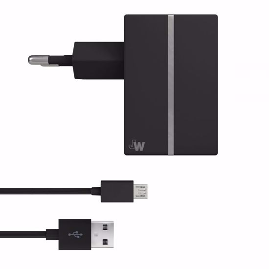 Picture of Just Wireless Just Wireless 2.1A EU Mains Charger with Micro USB Cable in Black