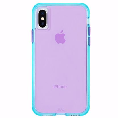 Picture of Case-Mate Case-Mate Tough Neon Case for Apple iPhone XS/X in Turquoise/Purple