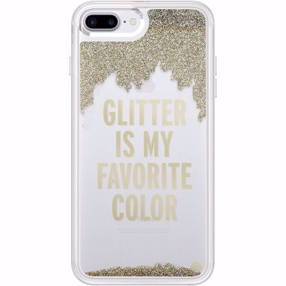 Picture of Kate Spade Kate Spade Glitter Liquid Case for Apple iPhone 8+/7+ in Clear/Gold