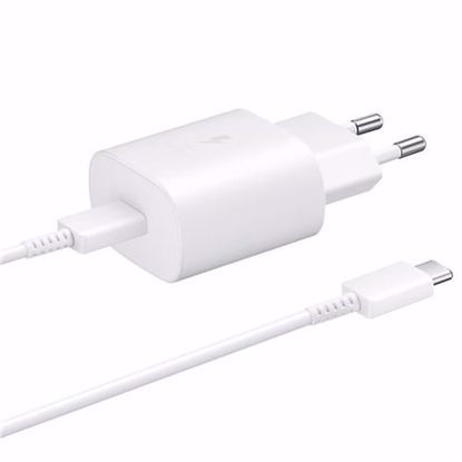 Picture of Samsung Samsung Ultra Fast PD 25W USB-C EU Mains Charger in White